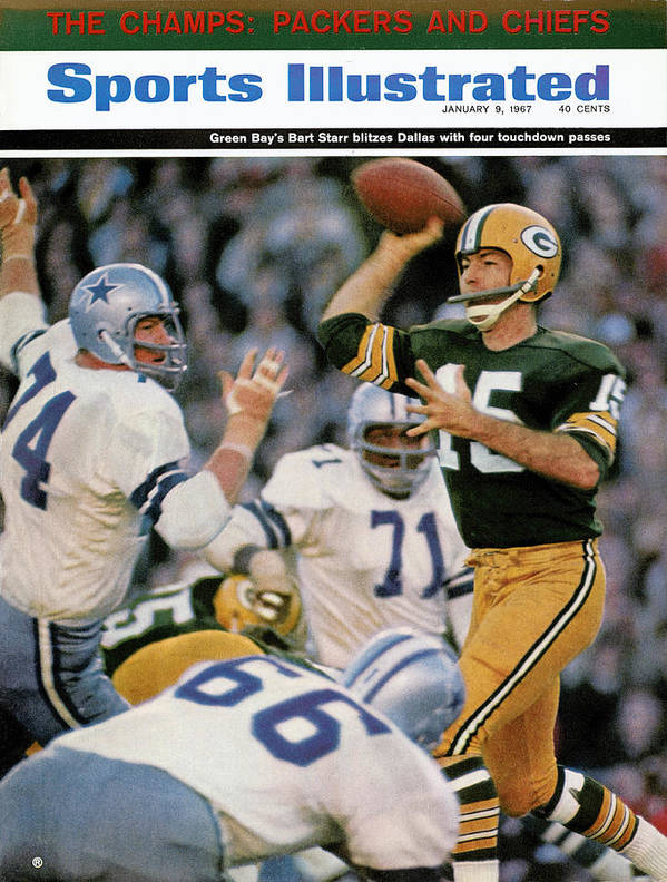 Making Art Print featuring the photograph Green Bay Packers Qb Bart Starr, 1967 Nfl Championship Sports Illustrated Cover by Sports Illustrated