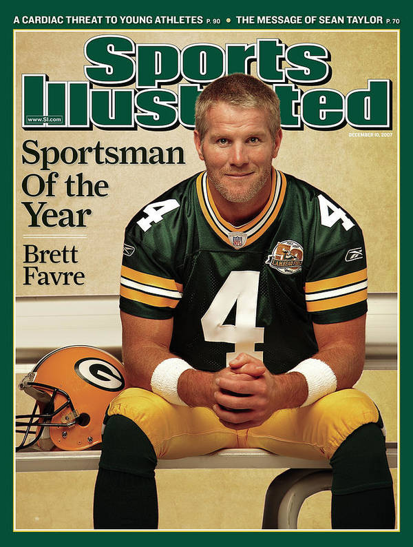 Magazine Cover Art Print featuring the photograph Green Bay Packers Qb Brett Favre, 2007 Sportsman Of The Year Sports Illustrated Cover by Sports Illustrated