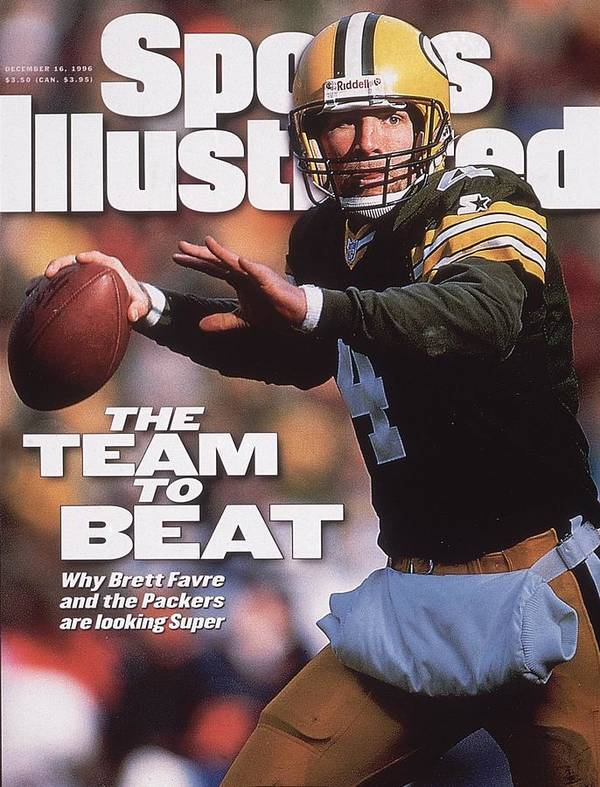 Brett Favre Art Print featuring the photograph Green Bay Packers Qb Brett Favre... Sports Illustrated Cover by Sports Illustrated