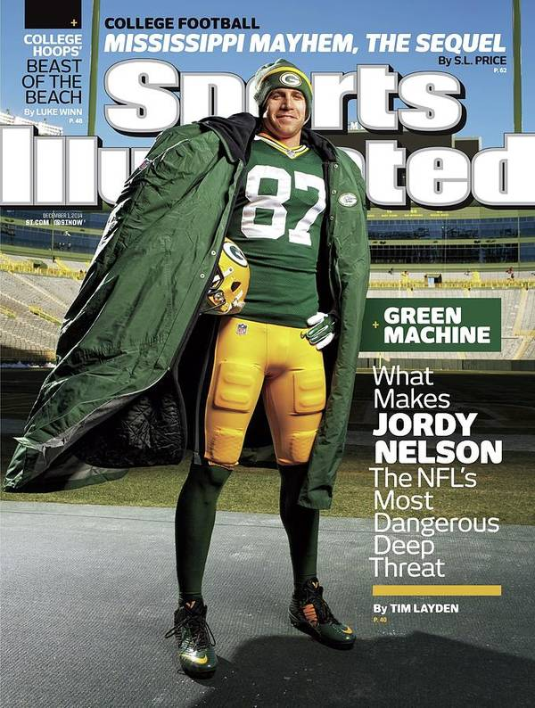 Green Bay Art Print featuring the photograph Green Machine What Makes Jordy Nelson The Nfls Most Sports Illustrated Cover by Sports Illustrated