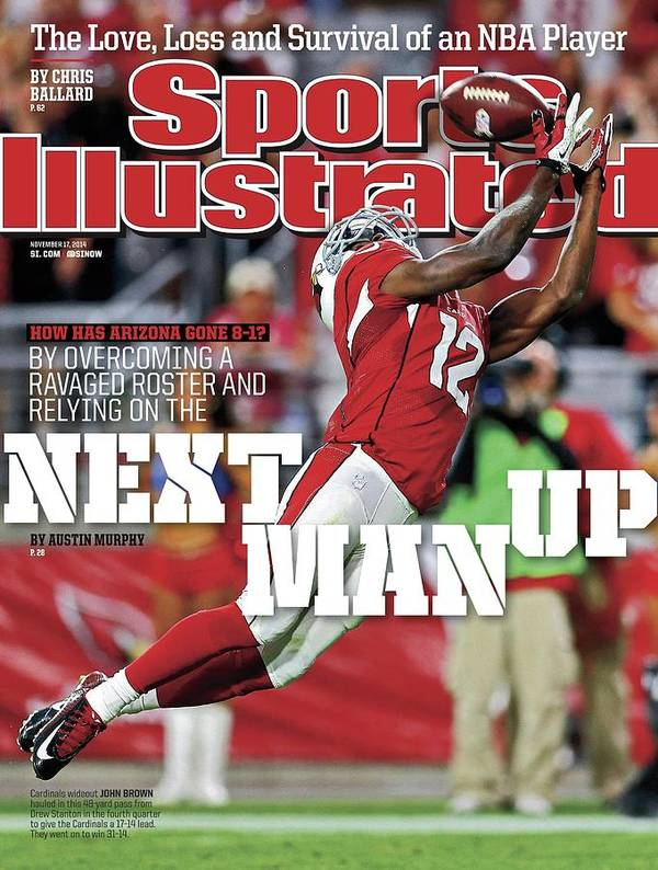 Magazine Cover Art Print featuring the photograph How Has Arizona Gone 8-1 By Overcoming A Ravaged Roster And Sports Illustrated Cover by Sports Illustrated