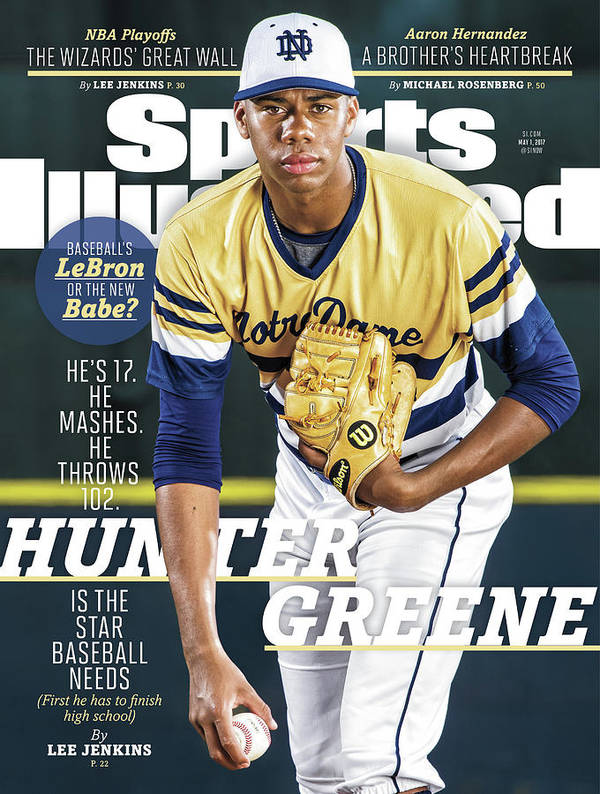 Magazine Cover Art Print featuring the photograph Hunter Greene Is The Star Baseball Needs Sports Illustrated Cover by Sports Illustrated
