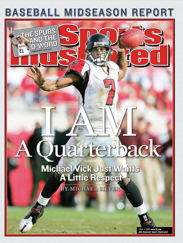 Tampa Art Print featuring the photograph I Am A Quarterback Michael Vick Just Wants A Little Respect Sports Illustrated Cover by Sports Illustrated