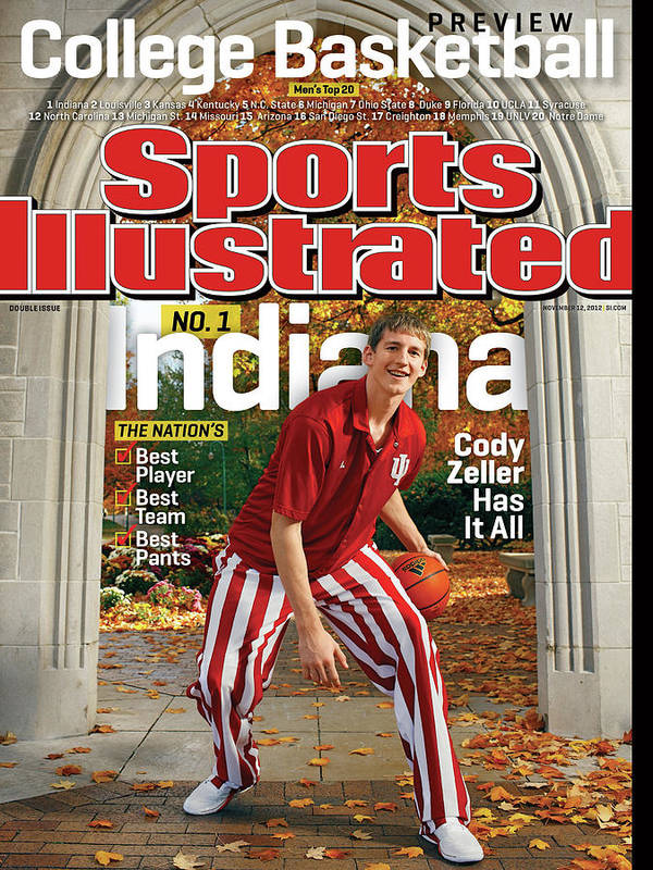 Season Art Print featuring the photograph Indiana University Cody Zeller, 2012-13 College Basketball Sports Illustrated Cover by Sports Illustrated