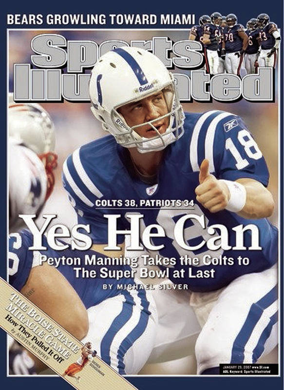 Magazine Cover Art Print featuring the photograph Indianapolis Colts Qb Peyton Manning, 2007 Afc Championship Sports Illustrated Cover by Sports Illustrated