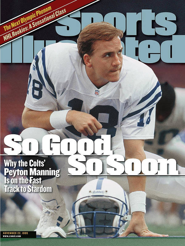 Magazine Cover Art Print featuring the photograph Indianapolis Colts Qb Peyton Manning... Sports Illustrated Cover by Sports Illustrated