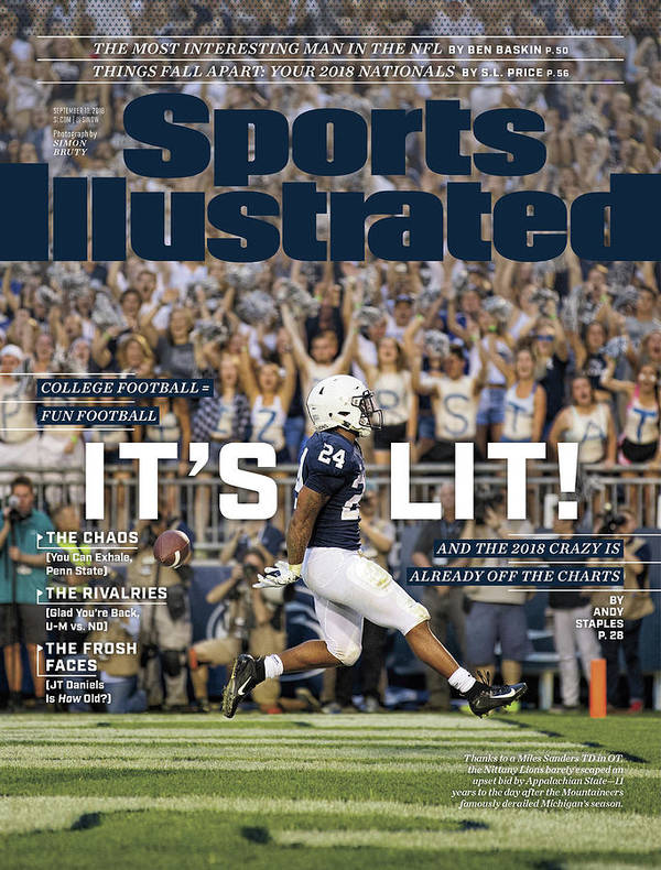 Magazine Cover Art Print featuring the photograph Its Lit And The 2018 Crazy Is Already Off The Charts Sports Illustrated Cover by Sports Illustrated