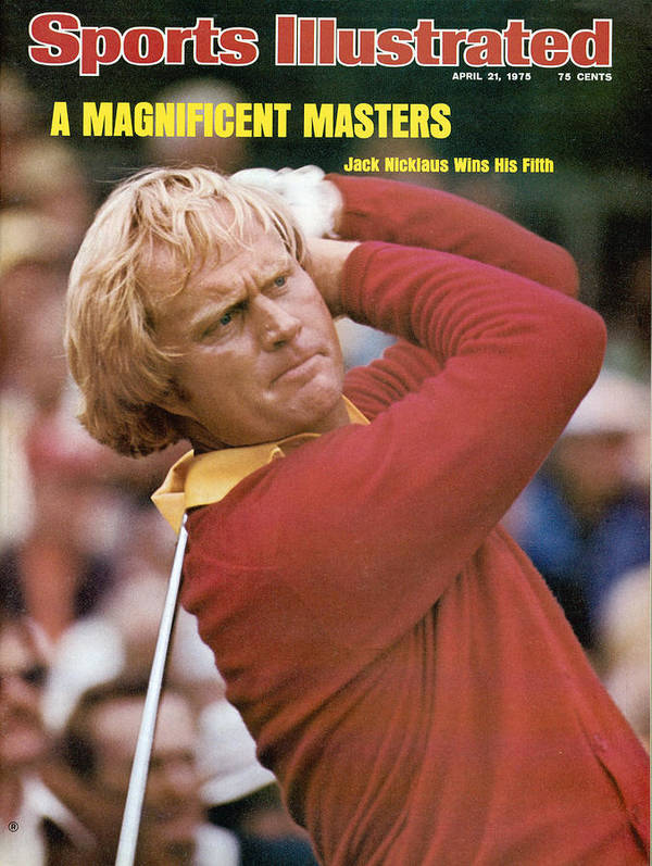 Sports Illustrated Art Print featuring the photograph Jack Nicklaus, 1975 Masters Sports Illustrated Cover by Sports Illustrated