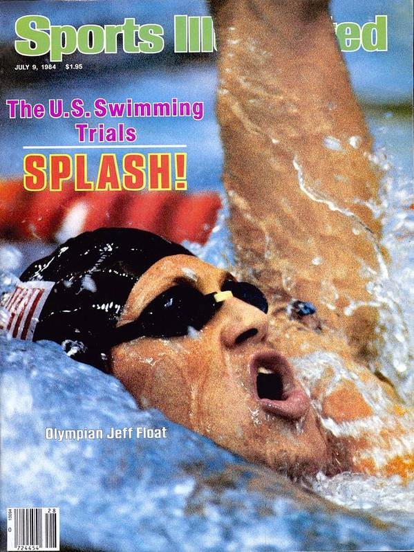 Magazine Cover Art Print featuring the photograph Jeff Float, 1984 Us Olympic Swimming Trials Sports Illustrated Cover by Sports Illustrated