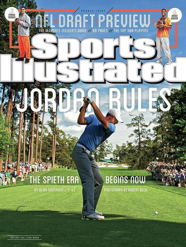 Magazine Cover Art Print featuring the photograph Jordan Rules The Spieth Era Begins Now Sports Illustrated Cover by Sports Illustrated