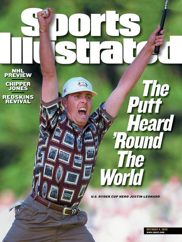 Sports Illustrated Art Print featuring the photograph Justin Leonard, 1999 Ryder Cup Sports Illustrated Cover by Sports Illustrated