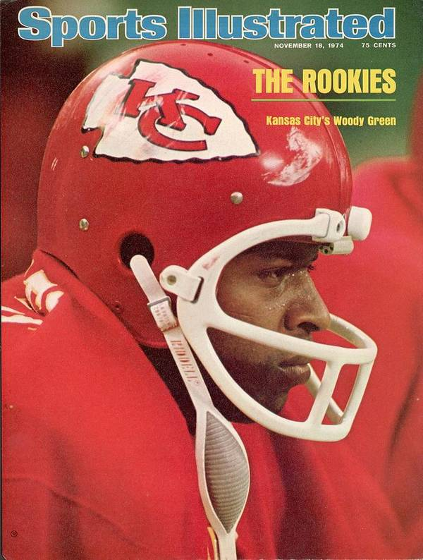 Magazine Cover Art Print featuring the photograph Kansas City Chiefs Woody Green Sports Illustrated Cover by Sports Illustrated