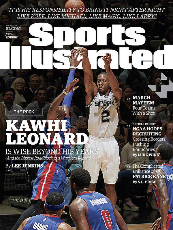 Magazine Cover Art Print featuring the photograph Kawhi Leonard, The Rock, Is Wise Beyond His Years Sports Illustrated Cover by Sports Illustrated