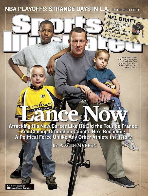 Magazine Cover Art Print featuring the photograph Lance Now Attacking His New Career Like He Did The Tour De Sports Illustrated Cover by Sports Illustrated