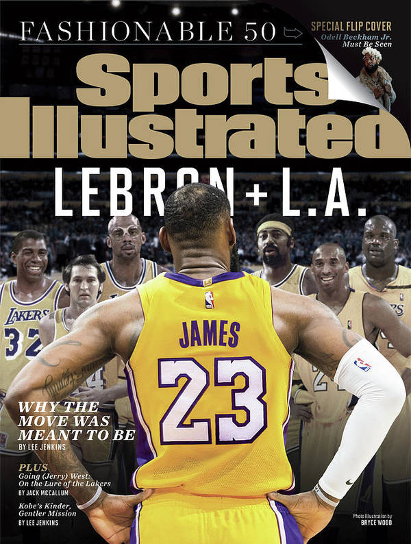 Magazine Cover Art Print featuring the photograph LeBron + L.a. Why The Move Was Meant To Be Sports Illustrated Cover by Sports Illustrated