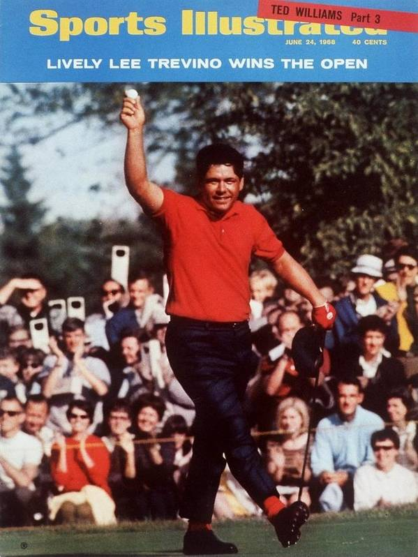 Magazine Cover Art Print featuring the photograph Lee Trevino, 1968 Us Open Sports Illustrated Cover by Sports Illustrated