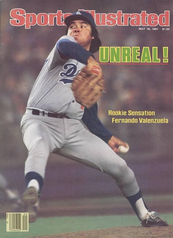 Magazine Cover Art Print featuring the photograph Los Angeles Dodgers Fernando Valenzuela... Sports Illustrated Cover by Sports Illustrated