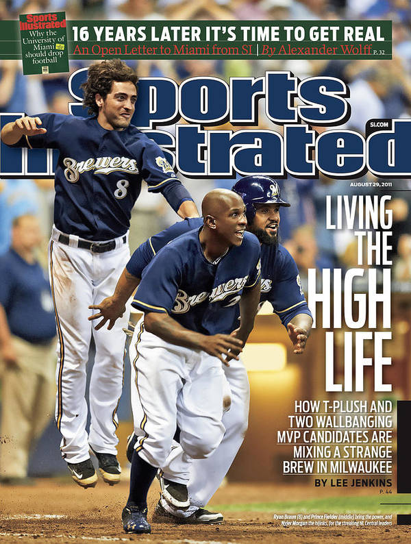 Magazine Cover Art Print featuring the photograph Los Angeles Dodgers V Milwaukee Brewers Sports Illustrated Cover by Sports Illustrated