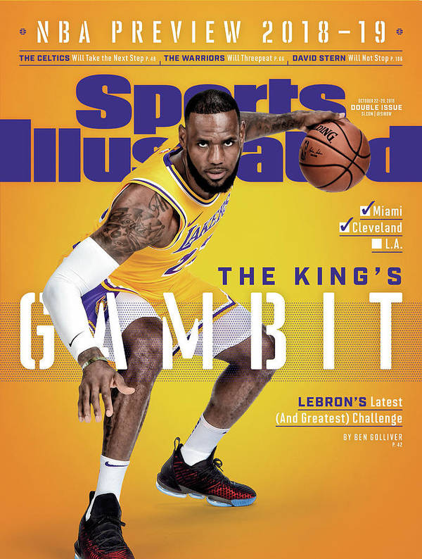Los Angeles Lakers LeBron James, 2018-19 Nba Basketball Sports Illustrated Cover Art Print