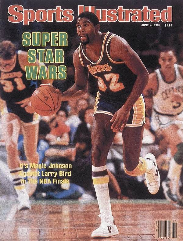 Playoffs Art Print featuring the photograph Los Angeles Lakers Magic Johnson, 1984 Nba Finals Sports Illustrated Cover by Sports Illustrated