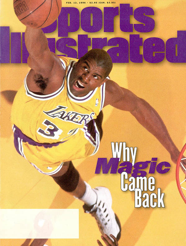 Chicago Bulls Art Print featuring the photograph Los Angeles Lakers Magic Johnson Sports Illustrated Cover by Sports Illustrated