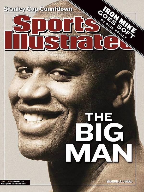 Magazine Cover Art Print featuring the photograph Los Angeles Lakers Shaquille Oneal Sports Illustrated Cover by Sports Illustrated