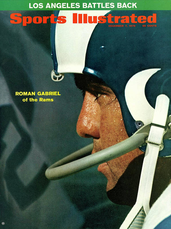 Atlanta Art Print featuring the photograph Los Angeles Rams Qb Roman Gabriel Sports Illustrated Cover by Sports Illustrated