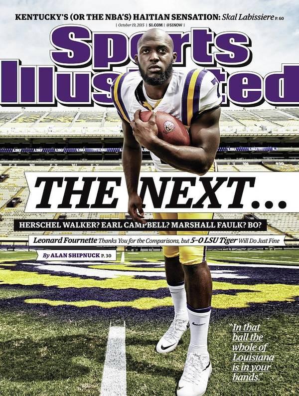 Magazine Cover Art Print featuring the photograph Louisiana State University Leonard Fournette Sports Illustrated Cover by Sports Illustrated