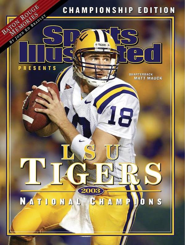 Auburn University Art Print featuring the photograph Louisiana State University Qb Matt Mauck Sports Illustrated Cover by Sports Illustrated