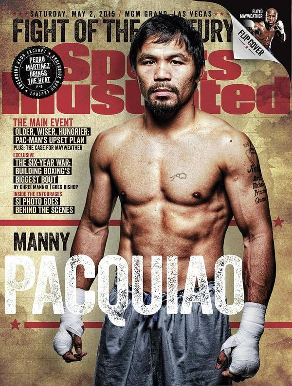 Event Art Print featuring the photograph Manny Pacquiao, 2015 Wbawbcwbo Welterweight Title Preview Sports Illustrated Cover by Sports Illustrated