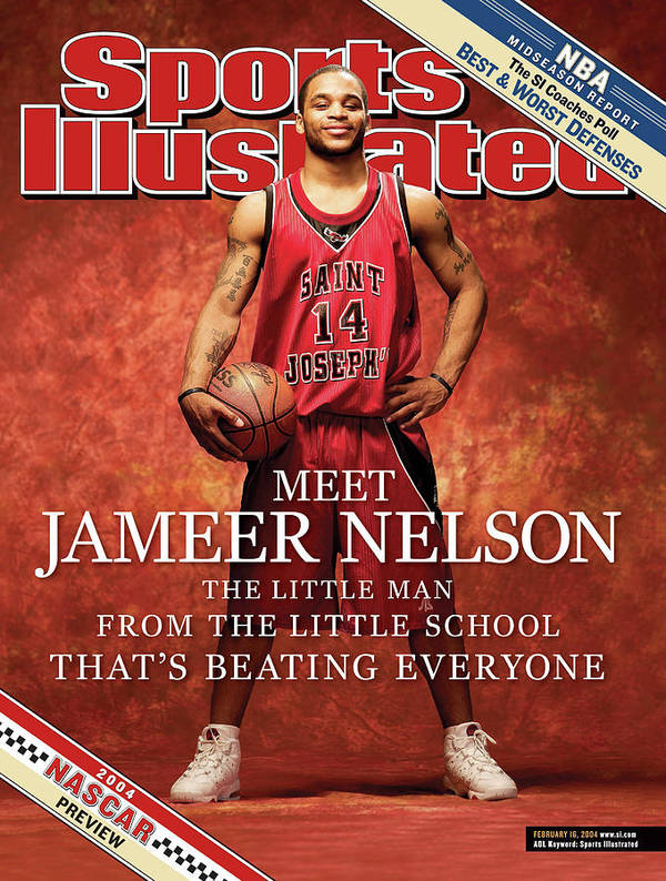 Point Guard Art Print featuring the photograph Meet Jameer Nelson The Little Man From The Little School Sports Illustrated Cover by Sports Illustrated