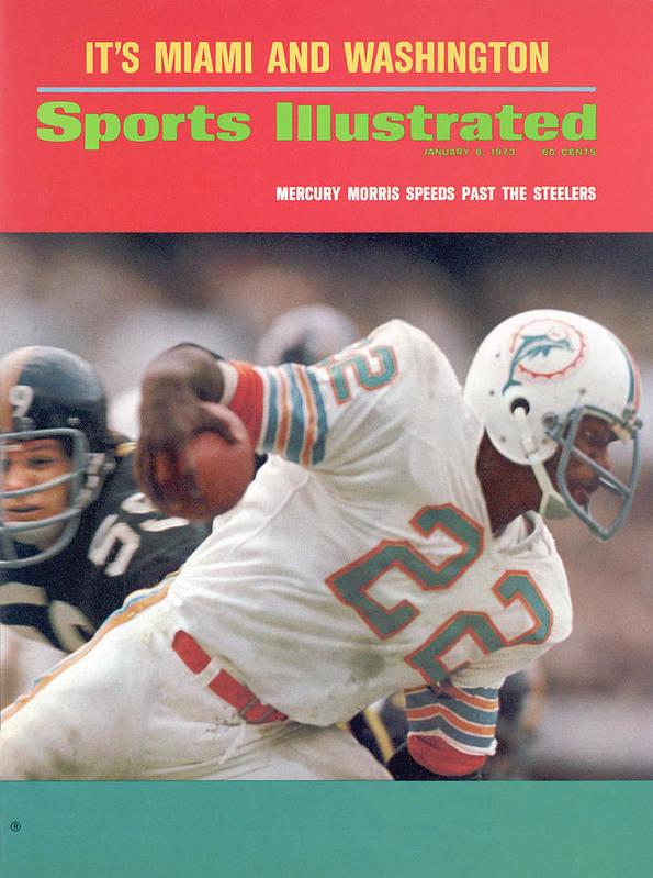 Playoffs Art Print featuring the photograph Miami Dolphins Mercury Morris, 1972 Afc Championship Sports Illustrated Cover by Sports Illustrated