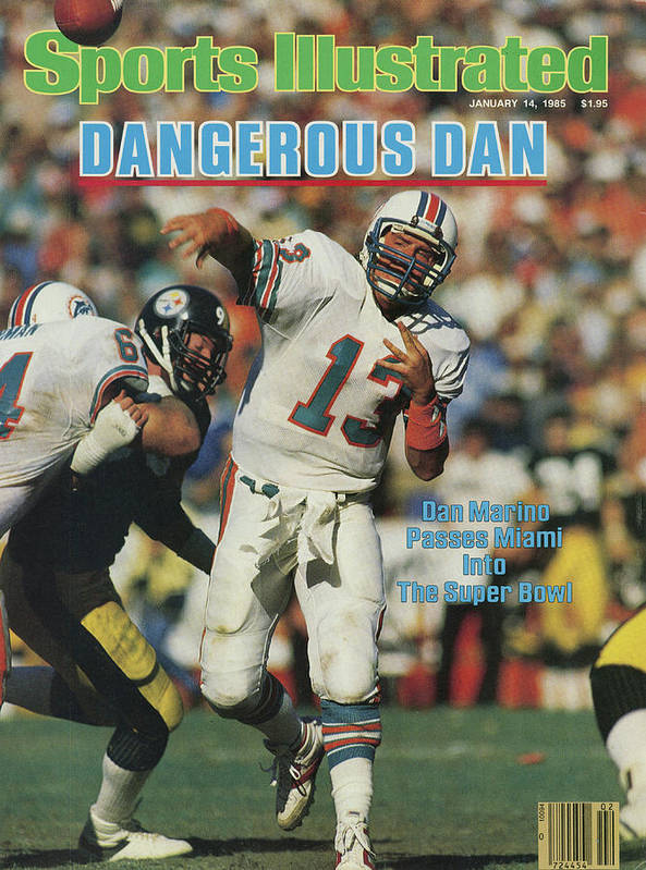 Playoffs Art Print featuring the photograph Miami Dolphins Qb Dan Marino, 1985 Afc Championship Sports Illustrated Cover by Sports Illustrated