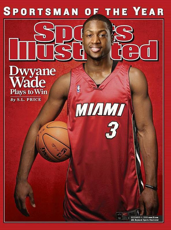 Nba Pro Basketball Art Print featuring the photograph Miami Heat Dwyane Wade Sports Illustrated Cover by Sports Illustrated