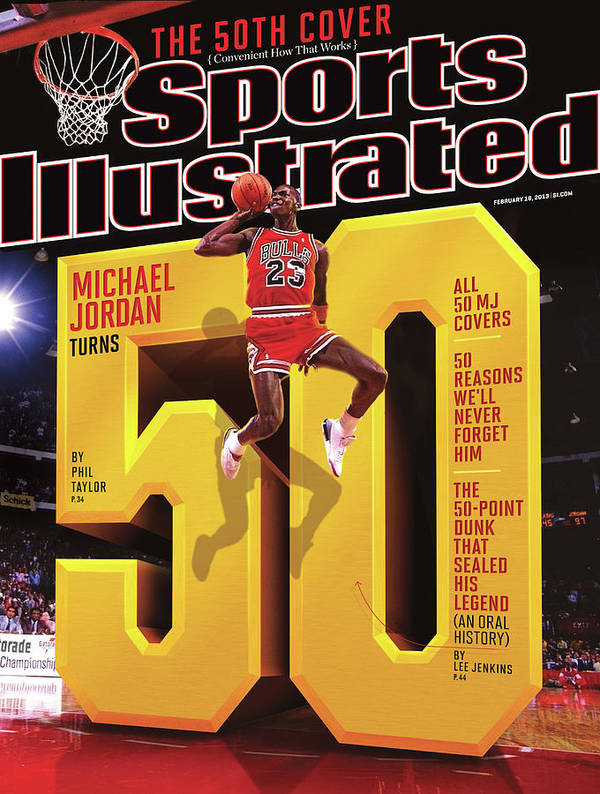 Magazine Cover Art Print featuring the photograph Michael Jordan Turns 50 Sports Illustrated Cover by Sports Illustrated