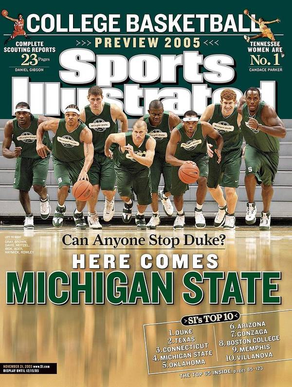 Michigan State University Art Print featuring the photograph Michigan State University Basketball Team Sports Illustrated Cover by Sports Illustrated