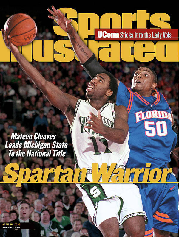 Michigan State University Art Print featuring the photograph Michigan State University Mateen Cleaves, 2000 Ncaa Sports Illustrated Cover by Sports Illustrated