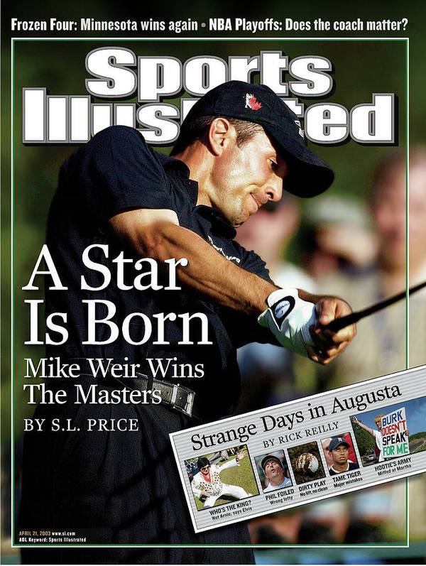 Magazine Cover Art Print featuring the photograph Mike Weir, 2003 Masters Sports Illustrated Cover by Sports Illustrated