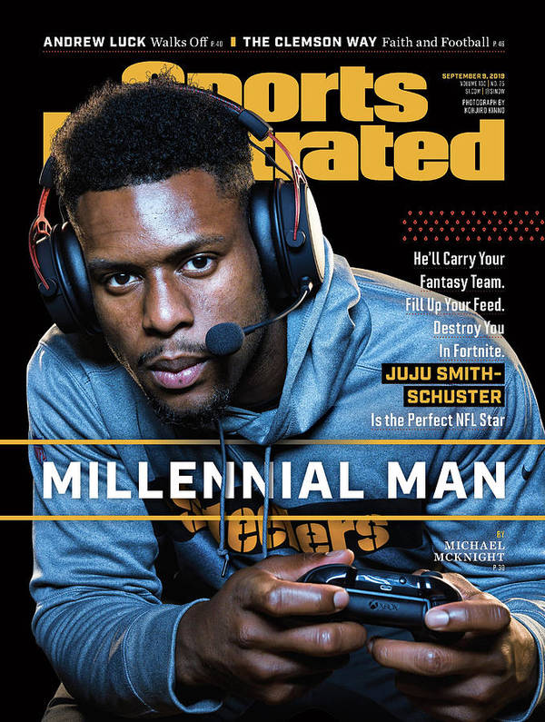 Magazine Cover Art Print featuring the photograph Millennial Man Pittsburgh Steelers Juju Smith-schuster Sports Illustrated Cover by Sports Illustrated