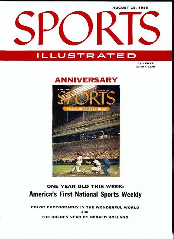 Magazine Cover Art Print featuring the photograph Milwaukee Braves Eddie Mathews Sports Illustrated Cover by Sports Illustrated