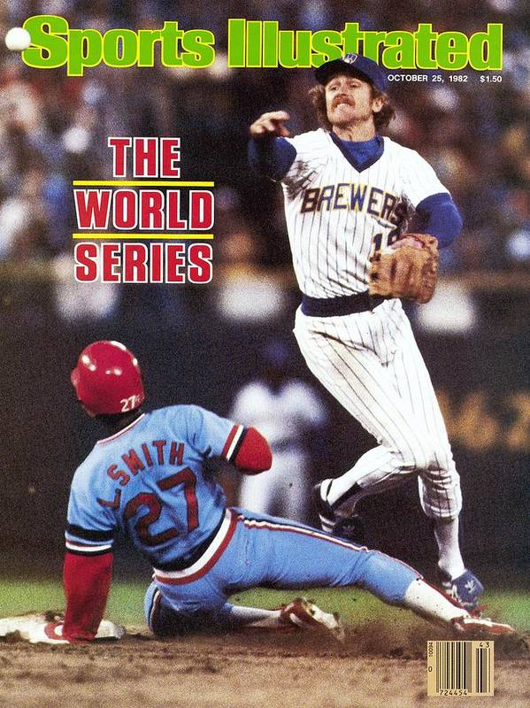 St. Louis Cardinals Art Print featuring the photograph Milwaukee Brewers Robin Yount, 1982 World Series Sports Illustrated Cover by Sports Illustrated