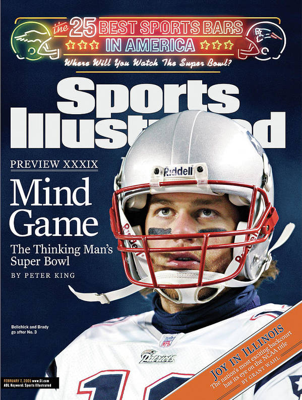 Magazine Cover Art Print featuring the photograph Mind Game The Thinking Mans Super Bowl Xxxix Preview Sports Illustrated Cover by Sports Illustrated