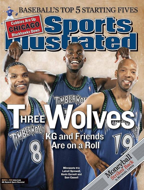 Magazine Cover Art Print featuring the photograph Minnesota Timberwolves Latrell Sprewell, Kevin Garnett, And Sports Illustrated Cover by Sports Illustrated