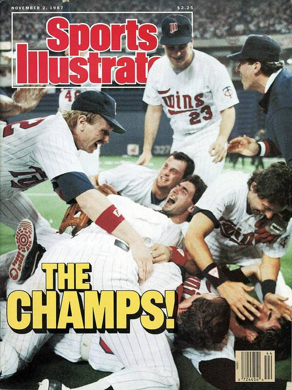 Hubert H. Humphrey Metrodome Art Print featuring the photograph Minnesota Twins Dan Gladden, 1987 World Series Sports Illustrated Cover by Sports Illustrated