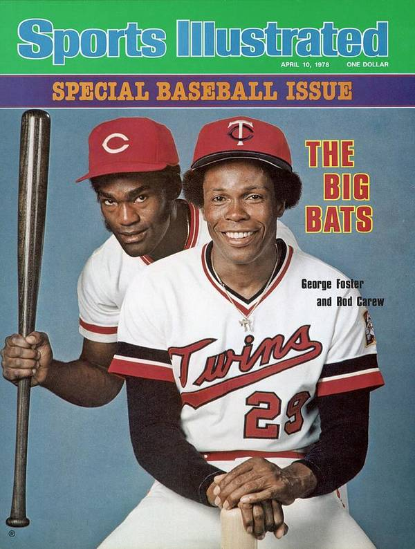Magazine Cover Art Print featuring the photograph Minnesota Twins Rod Carew And Cincinnati Reds George Sports Illustrated Cover by Sports Illustrated