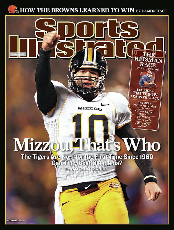 Magazine Cover Art Print featuring the photograph Missouri University Qb Chase Daniel by Sports Illustrated Cover