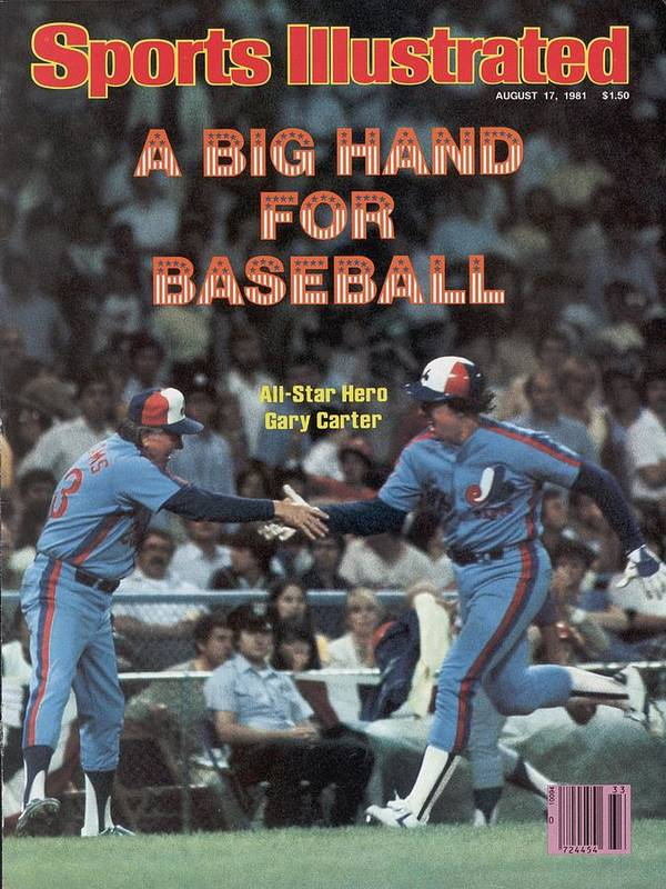 1980-1989 Art Print featuring the photograph Montreal Expos Gary Carter, 1981 Mlb All Star Game Sports Illustrated Cover by Sports Illustrated