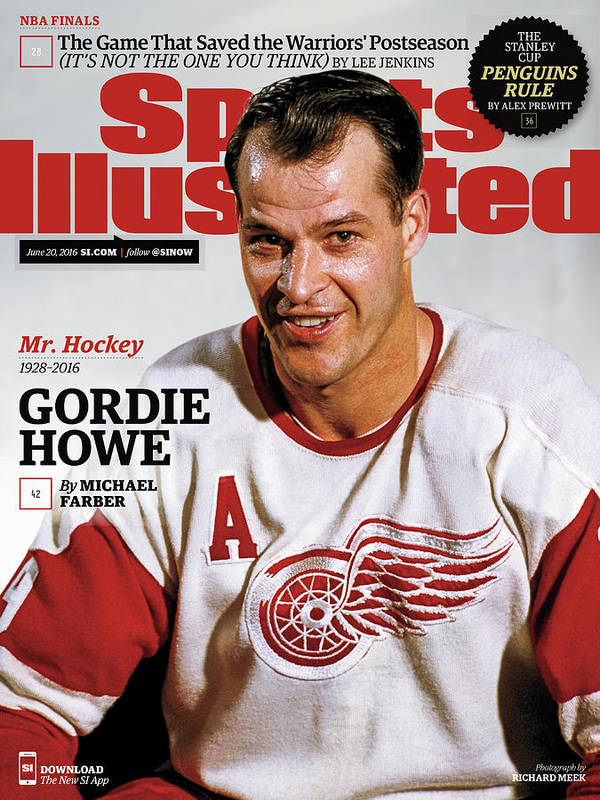 Magazine Cover Art Print featuring the photograph Mr. Hockey Gordie Howe, 1928 - 2016 Sports Illustrated Cover by Sports Illustrated