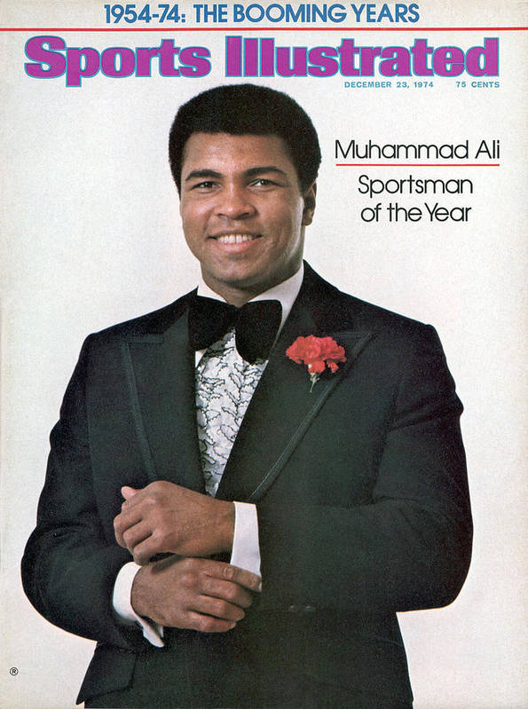 Magazine Cover Art Print featuring the photograph Muhammad Ali, 1974 Sportsman Of The Year Sports Illustrated Cover by Sports Illustrated