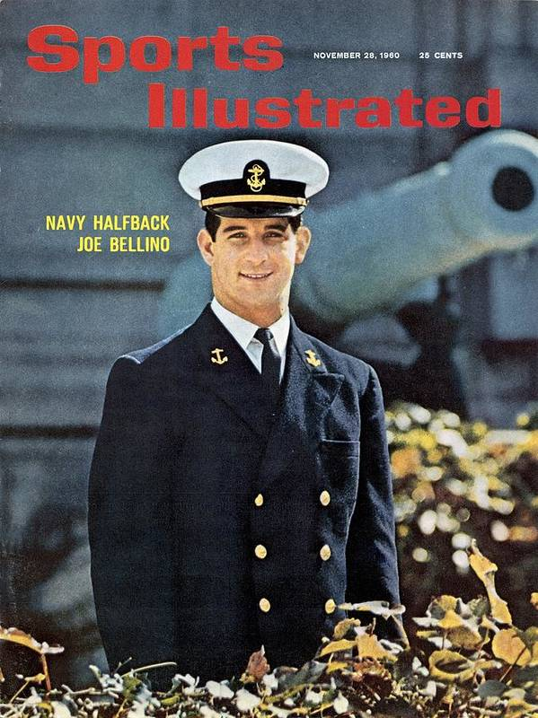 Magazine Cover Art Print featuring the photograph Navy Joe Bellino Sports Illustrated Cover by Sports Illustrated